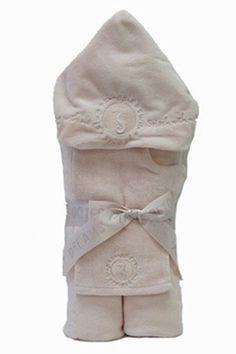 Barefoot Dreams Seahorse Pink Hooded Towel Set