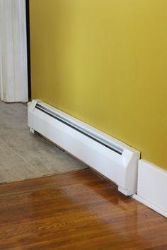 Fancy! Spray paint your baseboard heaters. #DIY #springtimeupdates