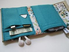 Nerd Herder gadget wallet in Wildflower Walk iPod by rockitbot