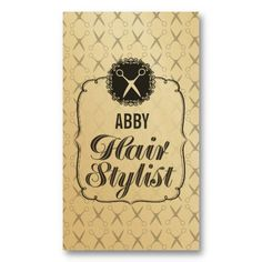 Vintage GOLD Scissors Hair Stylist Appointment Business Card Templates