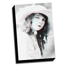 Picture it on Canvas Anaglyph Actress 3D Photographic Print on Wrapped Canvas