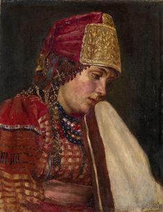 V. Surikov - Portrait of a Boyarynya