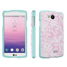 Amazon.com: DuroCase ® LG Optimus F60 MS395 / Tribute LS660 / Transpyre VS810PP Hard Case Mint - (Lace Flower Pink): Cell Phones & Accessories