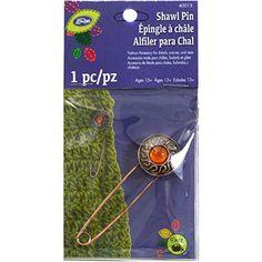 Dritz Loran Shawl Pin-Amber Stone