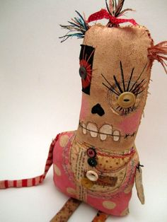 Handmade Grungy Monster Doll (PENELOPE). $52.00, via Etsy.