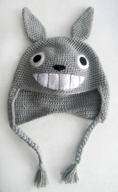 Super Cool Totoro Inspired Knitted Hat All Sizes by MarroCraft