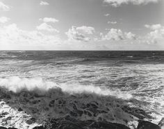 "ROBERT ADAMS, ""South from the South Jetty, Clatsop County, Oregon,"" 1990, silver print, printed 1991, 14 3/8"" x 18"""