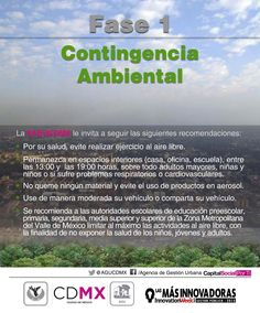Se activa la Fase I de contingencia ambiental en la #CDMX.
