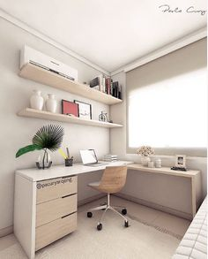 Como montar um home office! Home Office Setup, Home Office Space, Home Office Design, House Design, Feminine Home Offices, Small Home Offices, Girls Bedroom Furniture, Room Ideas Bedroom, Kid Furniture