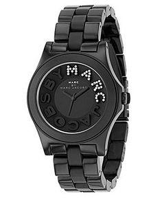 cool Montre pour femme : Marc by Marc Jacobs Watch, Women's Black Plastic Bracelet MBM4527 - Marc by ...