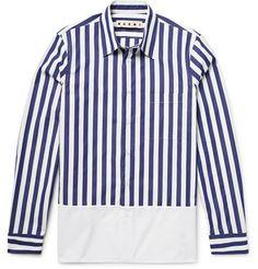 MARNI Striped Cotton-Poplin Shirt. #marni #cloth #casual shirts