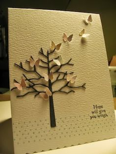 Butterfly tree card