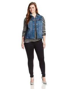 Two by Vince Camuto Women's Plus-Size Jean Vest for only $56.51 You save: $42.49 (43%)