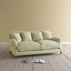 CRUMPET SOFA The sort of sofa worthy of taking out for a cream tea on a rainy afternoon. We've made it extra deep so it's perfect for schnuggling up on.