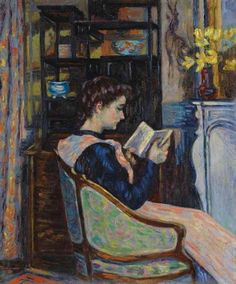Armand Guillaumin - Mademoiselle Guillaumin lisant 1907