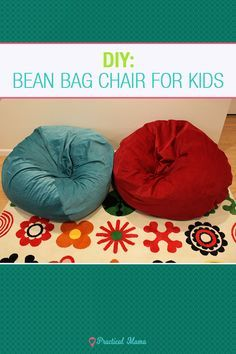 How to sew DIY bean bag chair for children with the easy to sew pattern and instructions. Sewing bean bag chairs are far less expensive than store-bought bean bags and it only requires to sew 2 pieces of fabric. It's a great addition to kids room as a reading nook, relaxing lounge, and a decor.