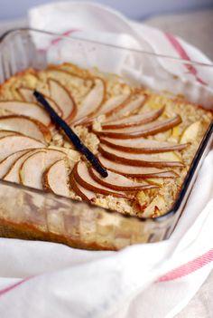 baked pear vanilla oatmeal recipe