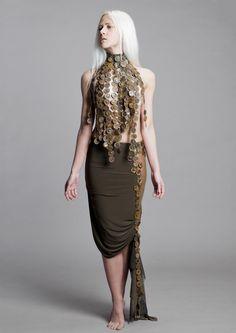 Collection tRUST Model Kadri Sammel Photo Andri Allas #rust #tRUST #skirt #bottlecaps
