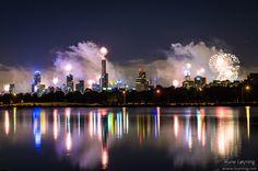 New years eve 2012 in Albert Park, Melbourne, Australia