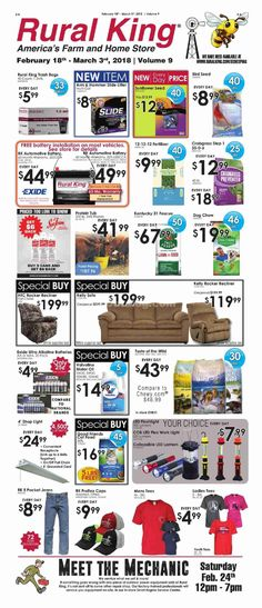 Rural King Weekly Ad February 18 - March 3, 2018 - http://www.olcatalog.com/rural-king/rural-king-ad.html