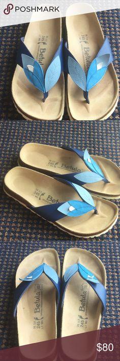 Excellent Birkenstock Betula Blue 38 Narrow Gorgeous and excellent condition by Birkenstock , Birko-Flor , Narrow.  Comfy and support your feet. Birkenstock Shoes Sandals