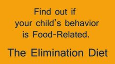 ADHD, Food Allergies, Behavior Issues and Eczema..find out if it's food related!!!