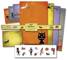 DHorse Deluxe Stationery Exotique: Gary Baseman Black Cat Serenade