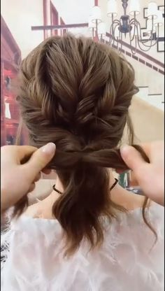 Try this awesome hairstyle, it won't waste your time! styles for long hair length braids Cute & Easy Hairstyle Easy Hairstyles For Long Hair, Up Hairstyles, Pretty Hairstyles, Wedding Hairstyles, Curly Hair Easy Updo, Casual Updos For Medium Hair, Hair Do For Medium Hair, Easy Updos For Medium Hair, Hairstyle Braid