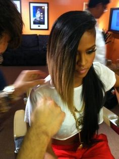 cassie ventura, hair, swag..... I would love to get my hair like this