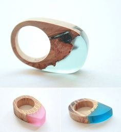 Britta Boeckmann - resin and wood rings