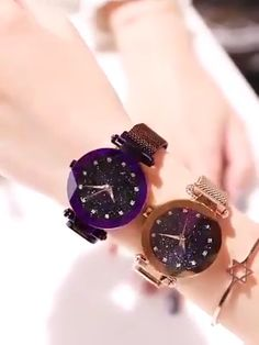 A galaxy strapped on your wrist 🌌 Limited stock available 📦 Stylish Watches For Girls, Trendy Watches, Best Watches For Men, Amazing Watches, Beautiful Watches, Fancy Watches, Expensive Watches, Elegant Watches, Luxury Watches