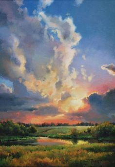 Easy-Landscape-Painting-Ideas-For-Beginners 10 DIY Dorm Decor Simple and Easy Landscape Painting IdeasAbstract Art, Cloud Painting Print , Cloud Print ,…Original Oil Painting Modern Large Wall Art Decor… Watercolor Sky, Watercolor Landscape, Landscape Fabric, Sky Landscape, Acrylic Landscape Painting, Landscape Design, Landscape Rocks, Landscape Timbers, Pastel Landscape