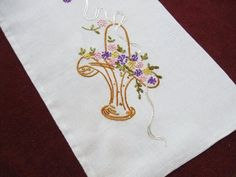Hand Embroidery Vingage Bread Bag