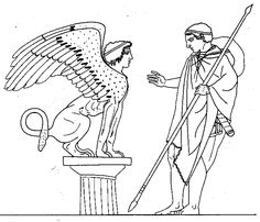Oedipus and Sphinx