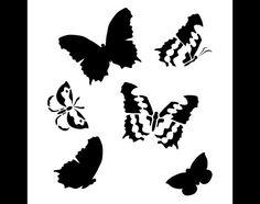 Graceful Butterfly Pattern Stencil  Select Size  por StudioR12