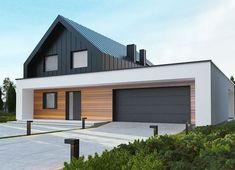 White Exterior Houses, Modern Farmhouse Exterior, Dream House Exterior, Dream House Plans, Modern Brick House, Modern House Facades, Modern House Plans, House Siding, Facade House