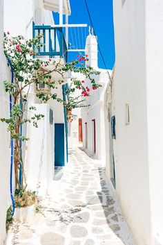A Detail of Mykonos Island; traditional whitewashed village, Greece -- A detail from Mykonos - by Ivan Jelisavcic : Oh The Places You'll Go, Places To Travel, Mykonos Island, Corfu, Greece Travel, Greece Tourism, Greece Trip, Holiday Destinations, Travel Destinations
