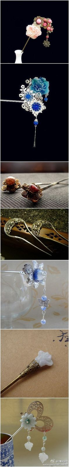 Ancient Chinese hair pins or accessories!! Very classic and beautiful!!!!!