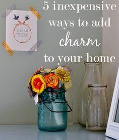 burlap + blue - great inspiration for DIY home decor