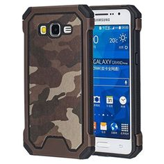For Samsung Galaxy Grand Prime, Leathlux Camouflage Silicone & PC 2 in 1 Hybrid Combo Dual Layer Cover Shockproof Rugged Impact Bumper Protective Case for Samsung Galaxy Grand Prime SM-G530H Brown, http://www.amazon.ca/dp/B01GJJUOP6/ref=cm_sw_r_pi_awdl_x_DBngybDEPCES2