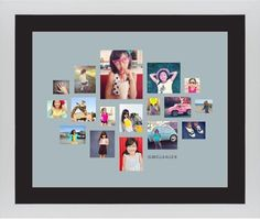 Gallery Collage of Seventeen Framed Print, White, Contemporary, Cream, Black, Single piece, 16 x 20 inches