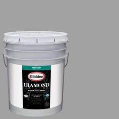 Glidden Diamond 5 gal. #HDGCN63 Granite Grey Semi-Gloss Interior Paint with Primer HDGCN63D-05SN at The Home Depot - Mobile