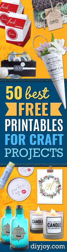 Best Free Printables for Crafts - Quotes, Templates, Paper Projects and Cards, DIY Gifts… Art And Craft Videos, Easy Arts And Crafts, Arts And Crafts Projects, Crafts For Teens, Crafts To Sell, Diy And Crafts, Diy Projects, Sell Diy, Decor Crafts