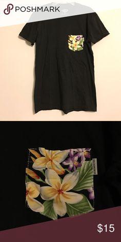 Serengetee Floral Pocket Shirt Black crew neck t-shirt with Floral pocket by Serengetee. Never been worn! ***Tagged Patagonia for exposure, similar outdoorsy company Patagonia Tops Tees - Short Sleeve