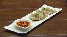 Chicken Dumplings with Chilli Sauce