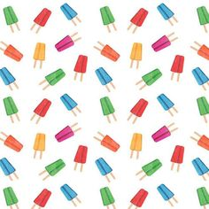Colorful Popsicle Pattern Backdrop - 4643