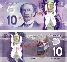 $10 Canadian polymer banknote | #money