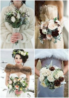 eye-catching winter wedding bouquets
