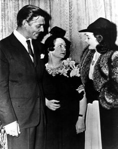 """Clark Gable and Vivien Leigh meet """"Gone With The Wind"""" author, Margaret Mitchell."""