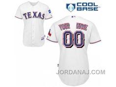 http://www.jordanaj.com/customized-texas-rangers-jersey-white-home-cool-base-baseball.html CUSTOMIZED TEXAS RANGERS JERSEY WHITE HOME COOL BASE BASEBALL Only $60.00 , Free Shipping!